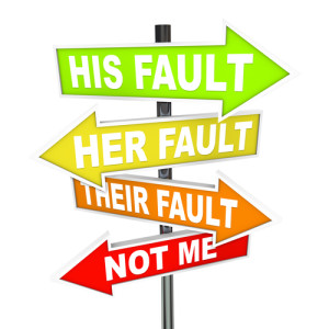 Photo credit: Several colorful arrow street signs with words Not Me - His, Her and Their Fault // ShutterStock