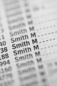 Photo credit: Smith name in phone book // ShutterStock