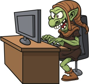 "[photo credit: Shutterstock/Memo Angeles - ""Internet Troll Using a Computer""]"