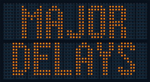 Photo credit: Urban traffic congestion sign saying Major Delays // ShutterStock