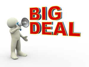 Photo credit: person announcing for big deal announcement // ShutterStock