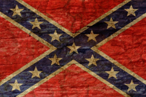shutterstock / sandra.matic: confederate flag overlaid with grunge texture
