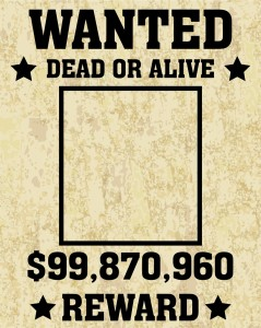 shutterstock / orgus88: A old wanted posters / Vector wanted poster image