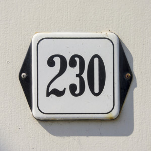 Photo credit: enameled house number two hundred and thirty // ShutterStock