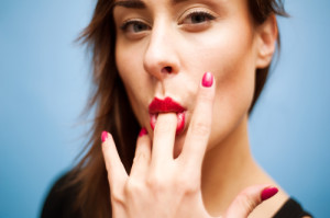 "I'm positive there was a middle finger involved in Gulliver's response. Photo credit: ""Young nice woman sucking her middle finger"" // ShutterStock"