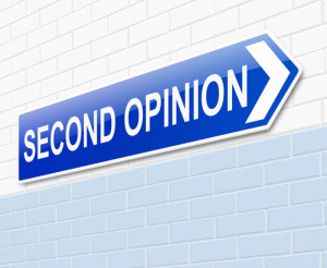 Photo credit: sign directing to a second opinion // ShutterStock