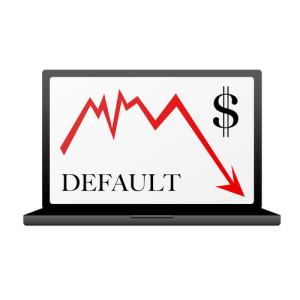Photo credit: Dollar default, illustration on white // ShutterStock