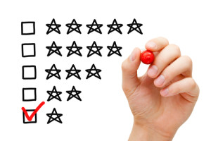 I'm going to give this lawsuit only 1 star. Photo credit: Hand putting check mark with red marker on poor one star rating // ShutterStock