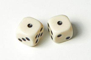 The eyes of the lawyers? Photo credit: Pair of thrown dices showing two ones // ShutterStock