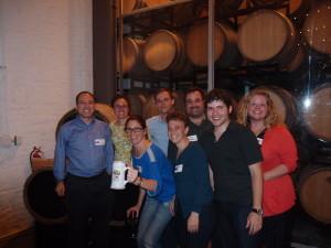 From left to right: Eric Goldman, Marcia Hofmann, Julie Samuels, Benjamin Costa, Cathy Gellis, Chris Ridder, Jonathan Mayer, Lila Bailey