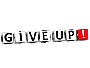 Photo credit: 3D Give Up Button // ShutterStock