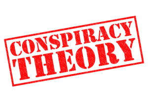 Photo credit: CONSPIRACY THEORY red Rubber Stamp // ShutterStock