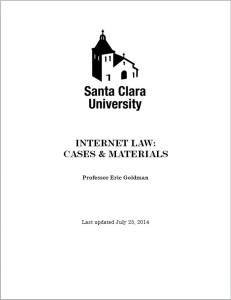 Internet Law reader cover 2014