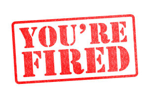 "shutterstock / chrisdorney: ""You're Fired Rubber Stamp Over a White Background"""
