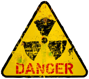 shutterstock/bethge radiation warning sign