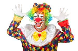 Who are you calling a clown? Photo credit: funny clown // ShutterStock