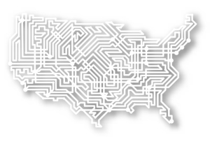 Photo credit: Illustrated map of the USA with background shadow // ShutterStock