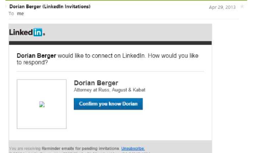 LinkedIn Can't Shake Publicity Rights Claims Based on Reminder Emails