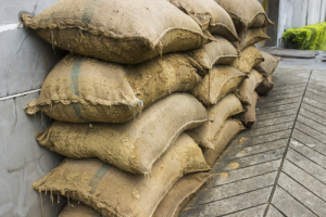 Photo credit: the pile of sand sack on the sloping floor // ShutterStock