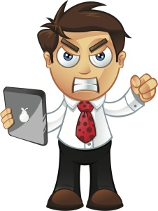 "shutterstock/designwolf ""business man - angry with tablet"""