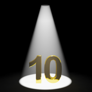 Photo credit: Gold 10th 3d Number // ShutterStock