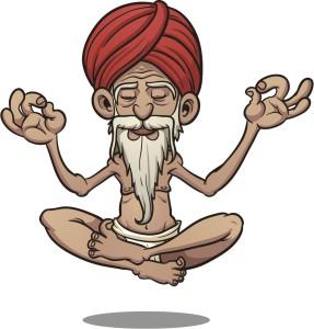"Shutterstock / Memo Angeles ""Cartoon floating guru."""