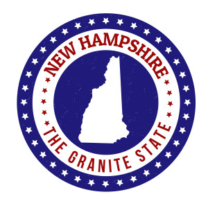 "Photo credit: ""Vintage stamp with text The Granite State written inside and map of New Hampshire"" // ShutterStock"