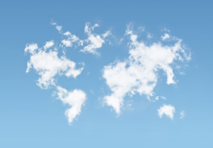 Photo credit: Clouds World Map // ShutterStock