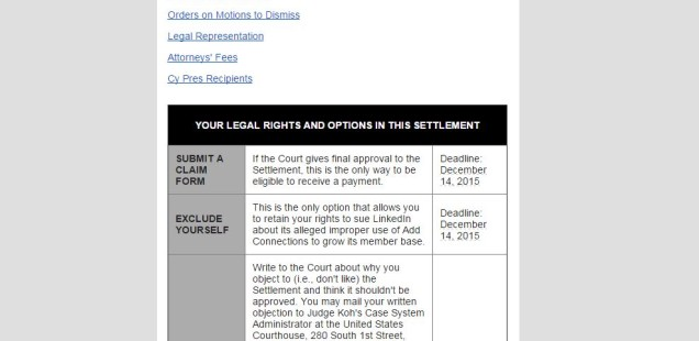 The Perkins v. LinkedIn Class Action Settlement Notification Was Badly Bungled (Forbes Cross-Post)