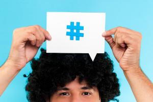 Gonzalo Aragon/Shutterstock - hashtag to follow concept
