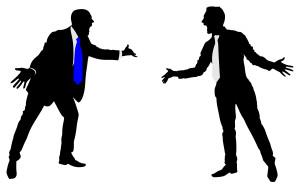 shutter stock / ficus 777 - Two businessmen having an argument, vector