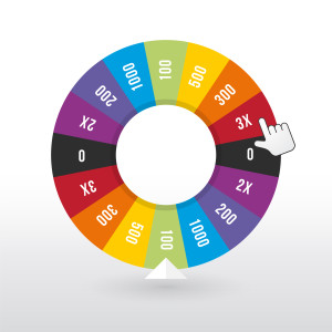 "Photo credit: ""color wheel luck with the amount of money"" // ShutterStock"