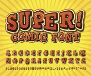 shutter stock / brosko - creative comic font
