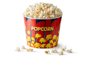 "I chose the popcorn, but maybe I should do both. Photo credit: ""Big Bucket of Popcorn"" // ShutterStock"