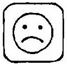 square unhappy face