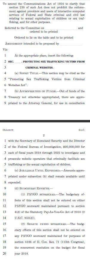 sesta fosta amendment 1