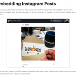 Is It OK to Embed Instagram Photos? ¯\_(ツ)_/¯